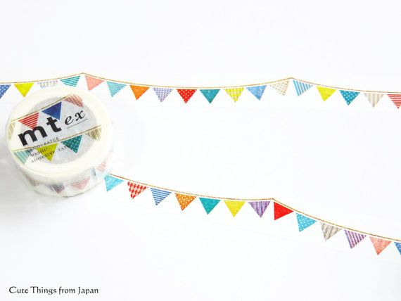 mt ex Garlands Japanese Washi Masking Tape by Cute Things From Japan
