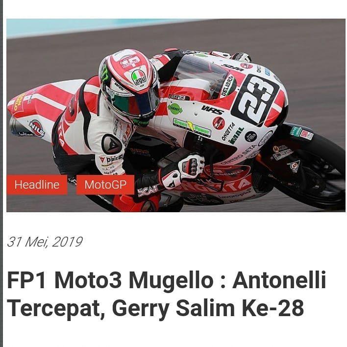 Fp1 Moto3 Mugello Antonelli Tercepat Gerry Salim Ke 28 Simak Selengkapnya Di Beritabalap Com Beritabalap Balapmotor Vid Motogp Racing Helmet