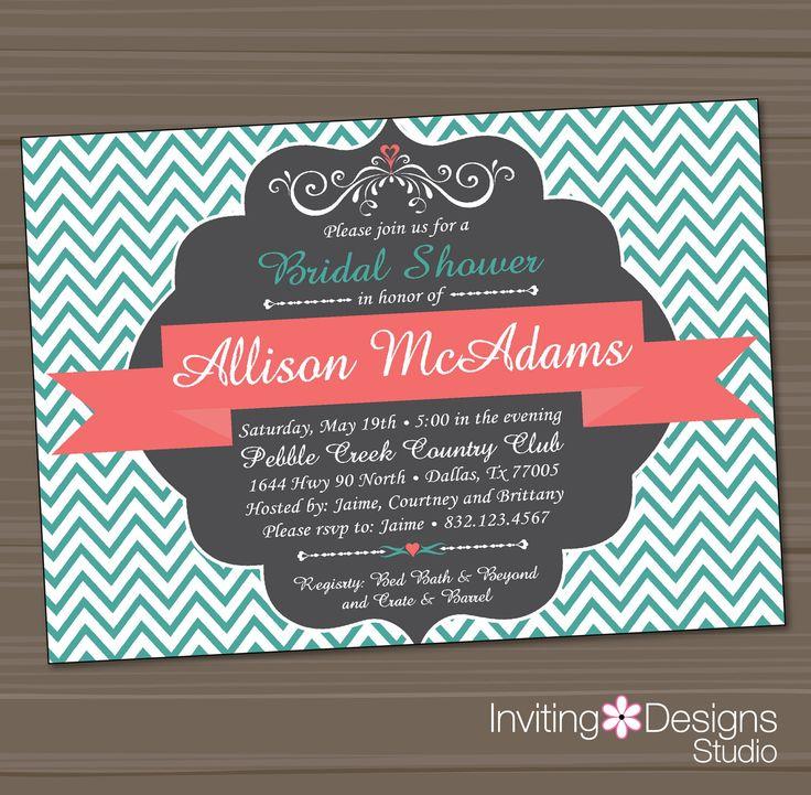 Printable Bridal Shower Invitation Wedding Shower Invitation