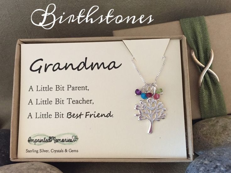A personal favorite from my Etsy shop https://www.etsy.com/listing/270543438/grandma-necklace-morhers-day-gift-for
