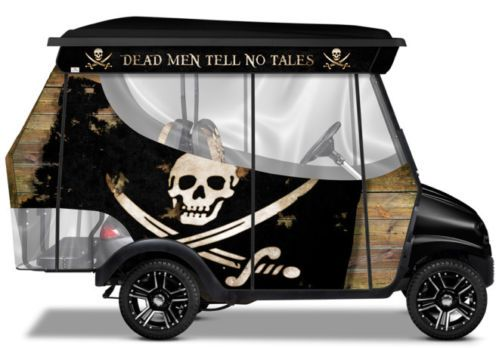 Club Car DS Golf Cart Pirate Custom Accessory Kit Rear Seat Enclosure Graphics | eBay