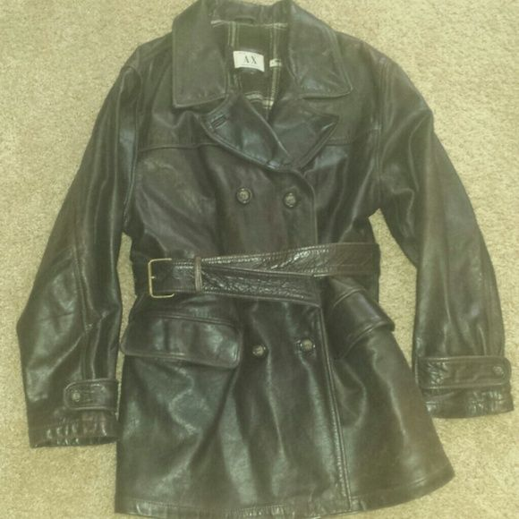 Armani leather jacket Armani Brown Leather jacket. Flannel lining keep you cozy in the cold weather. No tears or stains. A/X Armani Exchange Jackets & Coats