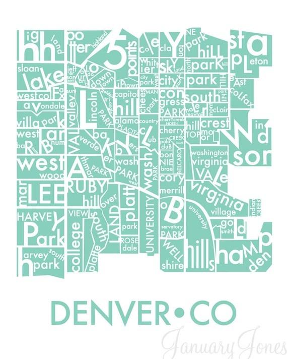 Best Denver The Mile High City Images On Pinterest Denver - Denver map usa
