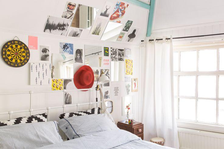 Spiegels bij hoofdeind bed