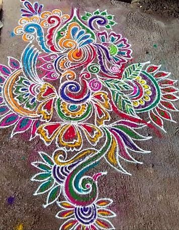 Latest Rangoli Art Designs