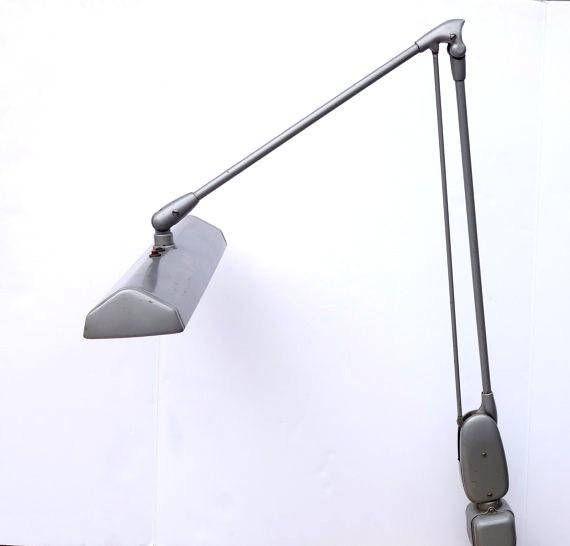 Luxo Fluorescent Mid Century Drafting Lamp Vintage Luxo Floating Arm Desk Lamp Classic Luxo Articulating Lamp Industrial Floating Lamp