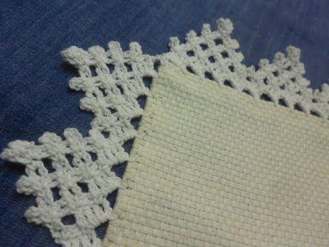 Orilla # 10 Triangulos Crochet facil en una sola vuelta