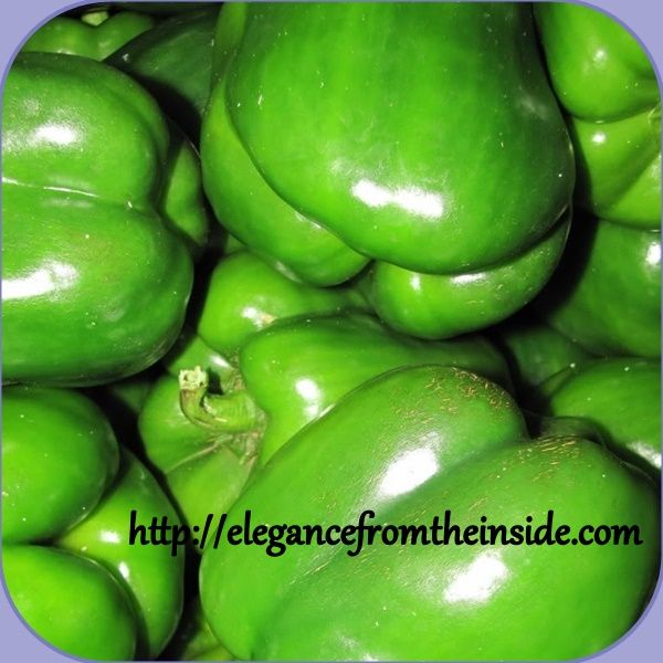 Green capsicum is also called a pepper. Extremely low in calories and provides you with a good dose vitamin C and is high in antioxidants.