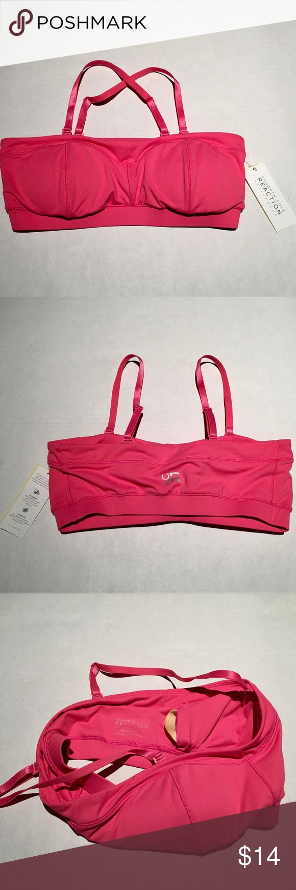 "NWT😍😘KENNETH COLE REACTION BANDEAU SPORTS BRA 💞💖💝 Super cute, stylish and comfy, with great support!   * 4 way stretch fabric enhance mobility for performance and comfort. * Built-in moisture wicking to keep you cool and dry while workout. * Removable pads provide options of support.  * Adjustable straps can be converted to criss cross style, or detach to transform to a bandeau bra.   * Fabric Content- 88/12 Poly/Spandex ( Factory Sample )  * Measurements- 12 1/2"" Bottom Open Kenneth…"