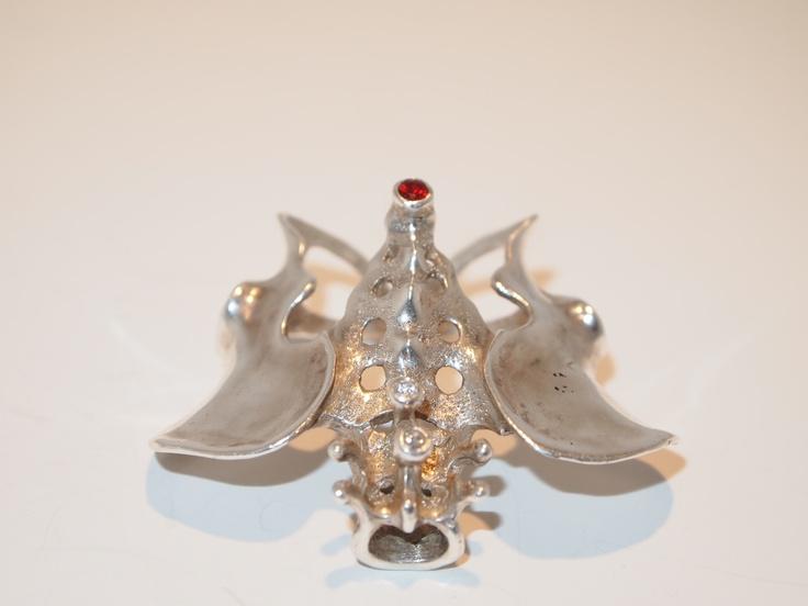 "My ""Pelvic Ring"" - Silver with Ruby & Diamonds"