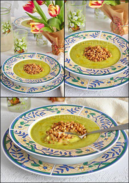 Цуккинево-яблочный суп-пюре с обжаренной перловкой. - Вкусная пауза
