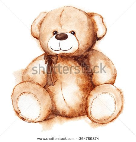 Cartoon lovely Teddy Bear toy Saint Valentine's day isolated