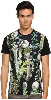 Versace Jeans All-Over Greco Columns T-Shirt - Shop for women's T-shirt - Black T-shirt