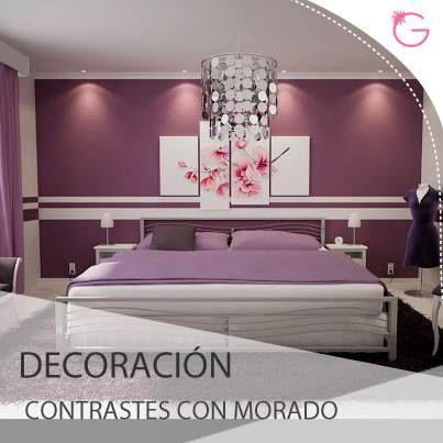 Decoraci n podemos decorar en morado con contrastes si - Paredes decoradas con madera ...