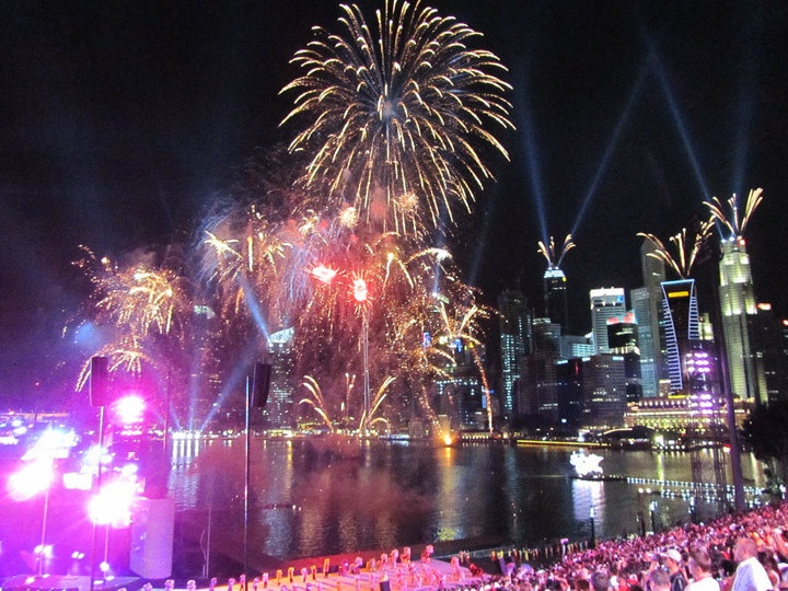 Stunning #Singapore and #fireworks  - WIT attends the inaugural Youth #Olympic Games Games Opening ceremony #webintravel