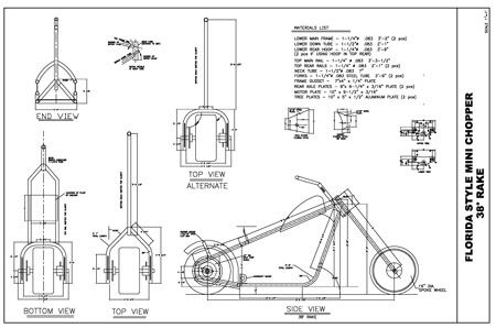 Chopper Frame Plans Free Download Build A Bike