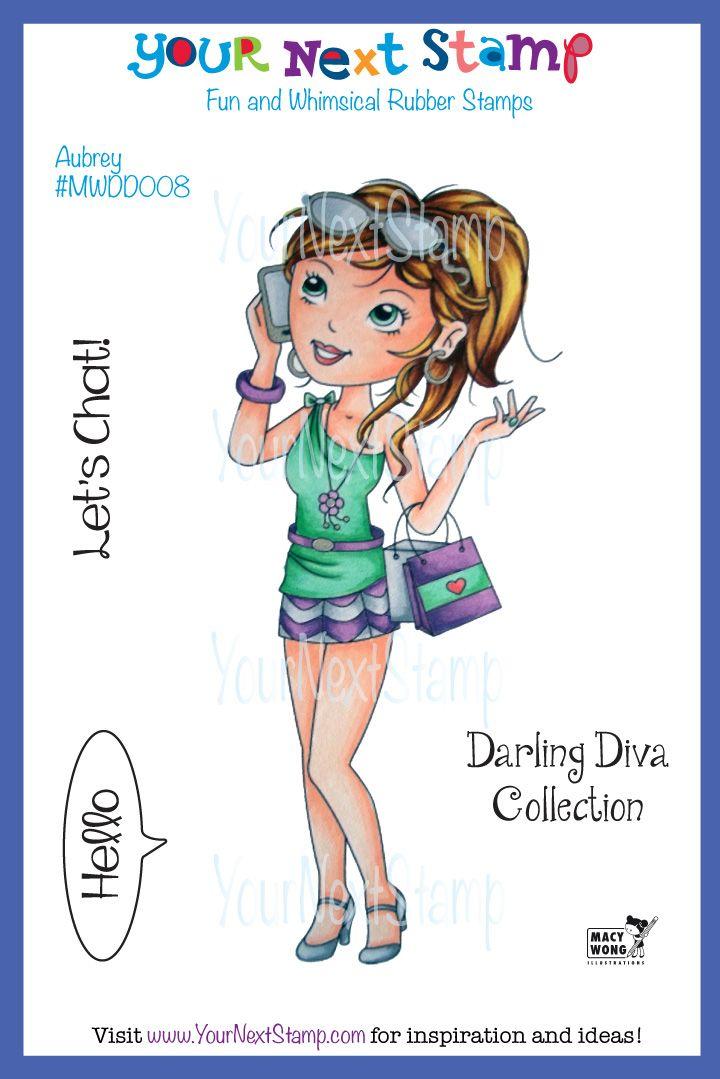 Aubrey - Darling Diva (cling set) [MWDD008] - USD12.00 : Your Next Stamp