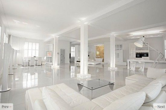 White living room renovation and furniture