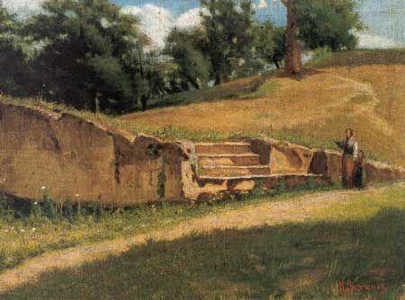 Sernesi, Raffaello, (1838-1866),  Abetelle Pistoiesi, 1860, Oil