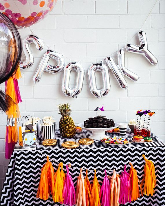 black and white halloween ideas                                                                                                                                                                                 More