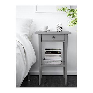 Best Hemnes Bedside Table Grey Ikea Bedroom Night Stands 400 x 300