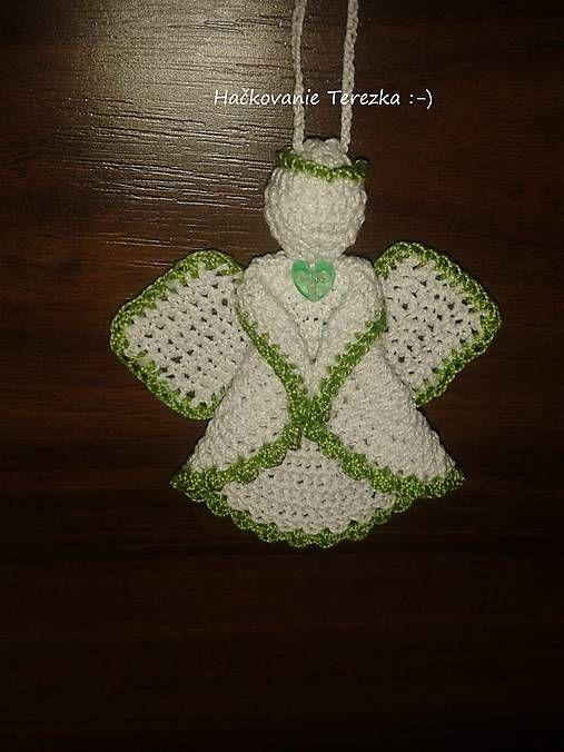 hackovanie-Terezka / anjelik bielo-zeleny