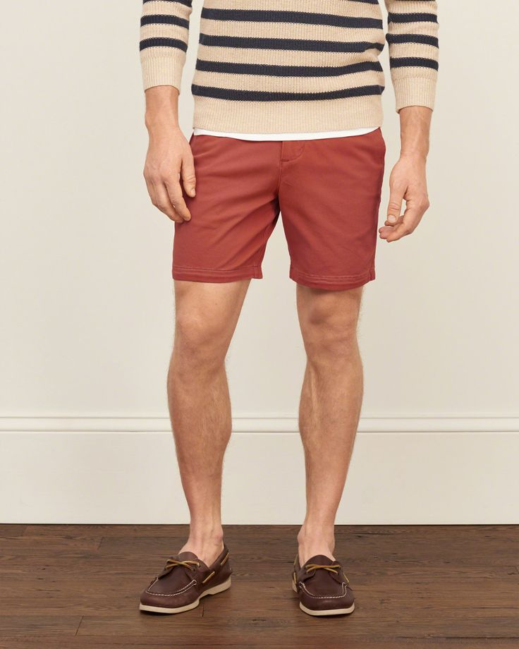 Mens A&F Preppy Fit Stretch Shorts | Mens Shorts | Abercrombie.com