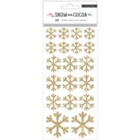 Snow & Cocoa Stickers - Snowflakes Gold Glitter
