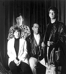 Velvet Underground 1993. Formed by Lou Reed & John Cale, they are - Sterling Morrison at back, Maureen Tucker sitting next to John Cale & Lou Reed standing. Pinned by Keva xo.