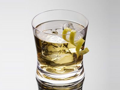 Rusty Nail Cocktail of Scotch and Drambuie