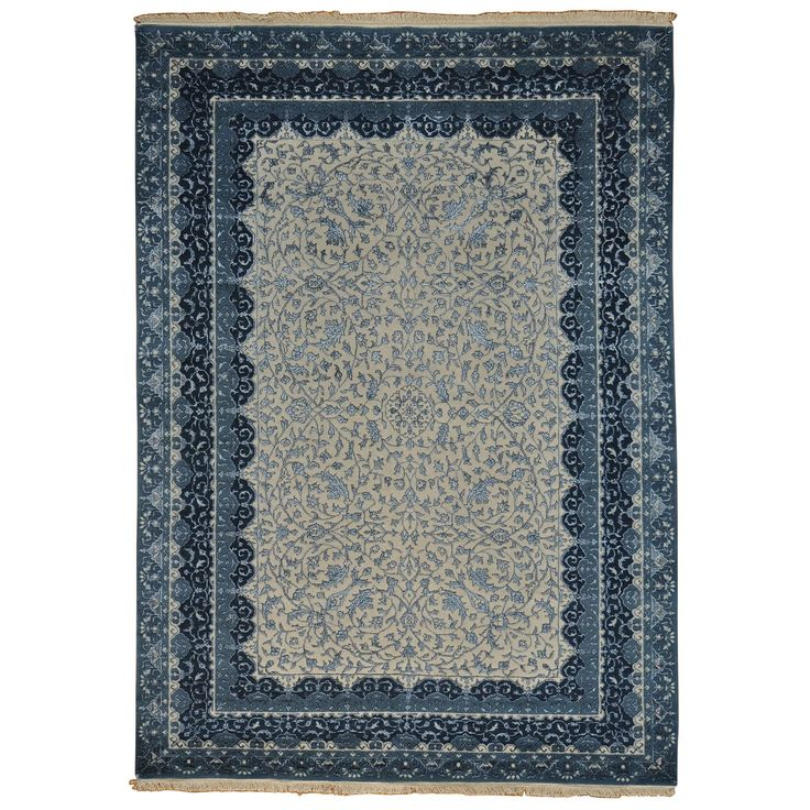 Kashan and Silk Handmade Area Rug