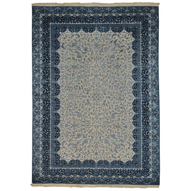 Kashan and Silk Handmade Area Rug