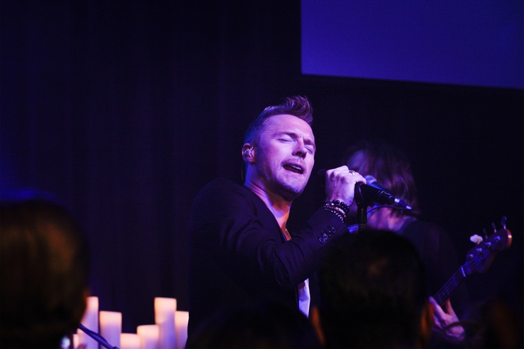 Ronan Keating performing live at The Emeralds & Ivy Ball