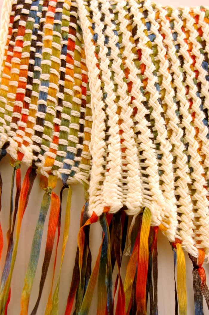 Quick and Easy Projects for the Knifty Knitter Looms - basket weave using small round loom