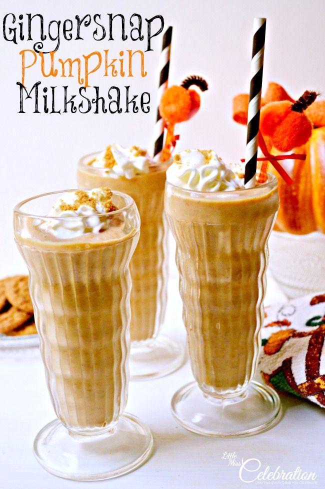Gingersnap Pumpkin Milkshake - a delicious way to enjoy the frosty side of pumpkin! li