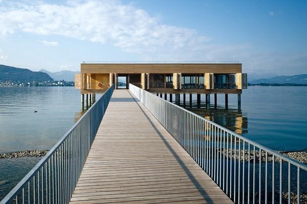 bathouse in western Austria, architects: lang+schwärzler, Bregenz