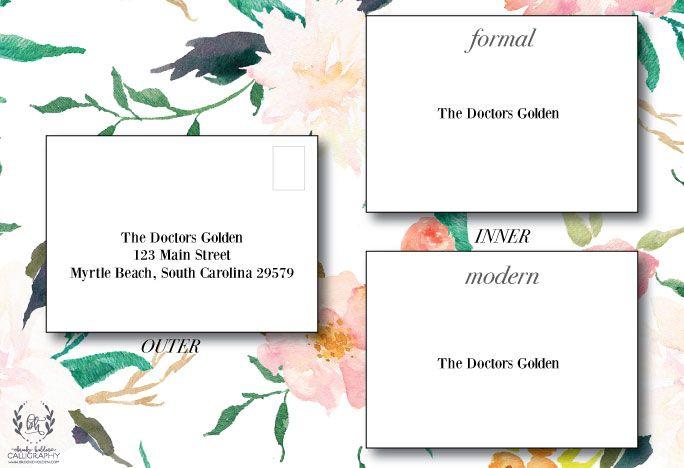 How to Address Wedding Envelopes - Brooke Holden Calligraphy | www.brookeholden.com