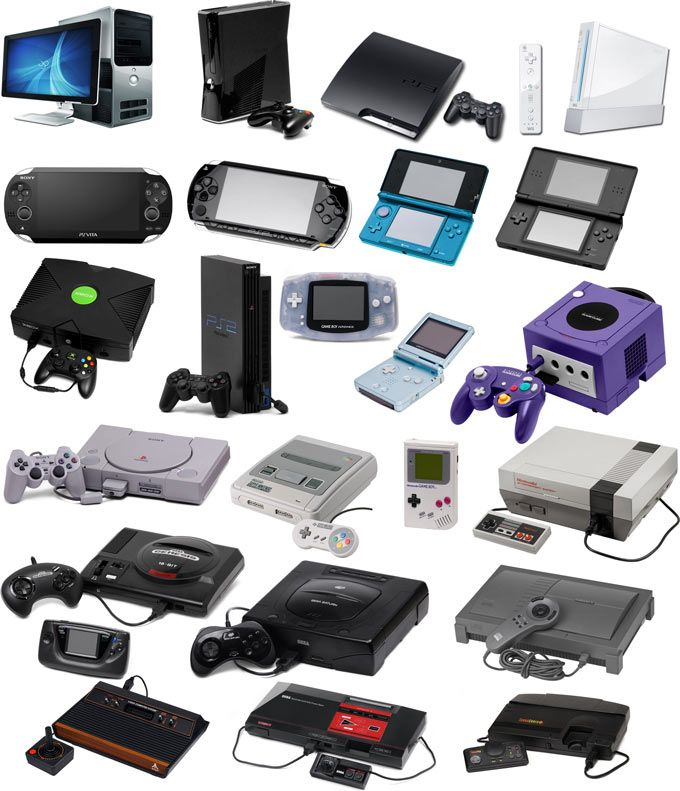 All the consoles over the years from 1972-2014!