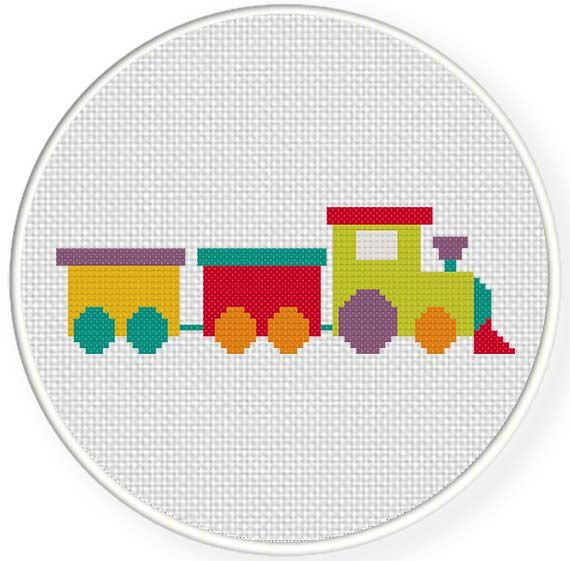 FREE for April 28th 2014 Only - Toy Train Cross Stitch Pattern