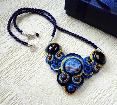 #soutache #blue #darkblue