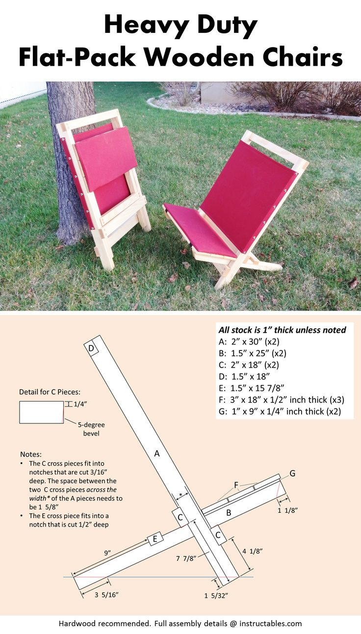 My take on the classic 2-piece wooden beach chair (or camp chair). Comfy, tidy, and holds 250lbs without a creak!