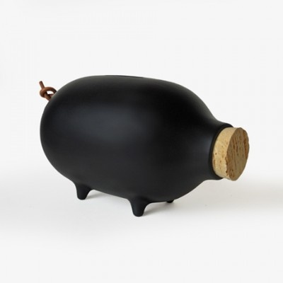 Chalk It To Me Piggy Bank - Black by Ladies and Gentlemen | MONOQI