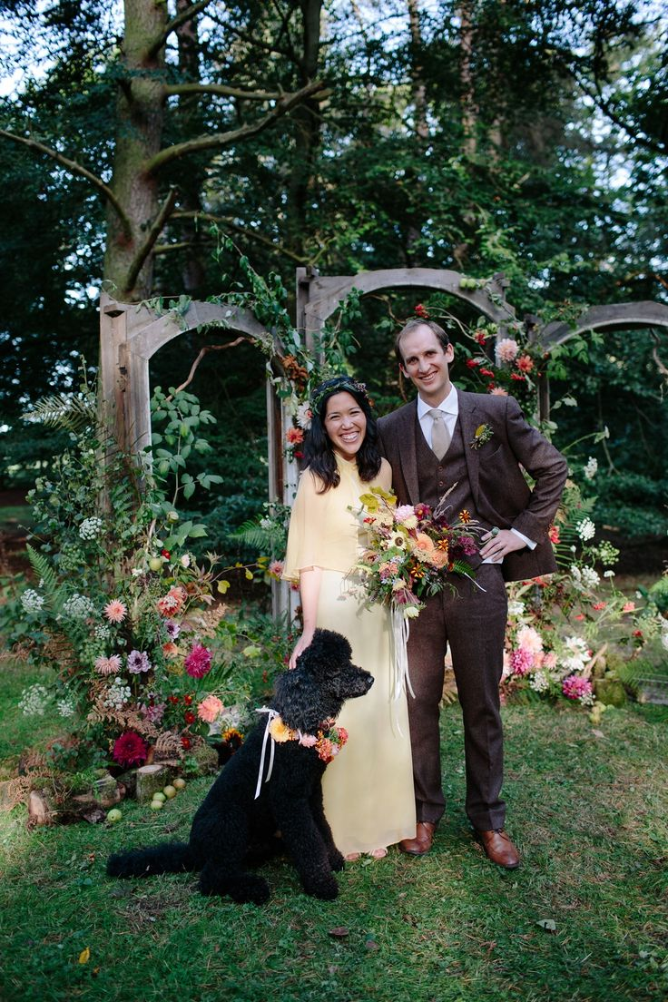 Gorgeous pooch 'Spud' was guest of honour at Ellen and Reuben's wedding. Image by Caro Weiss Photography