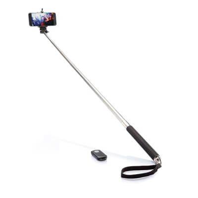 Brat telescopic cu telecomanda pentru selfie