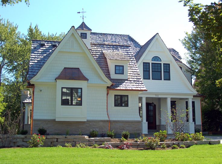 Best White Shingle Style Home With Front Load Garage Www 400 x 300