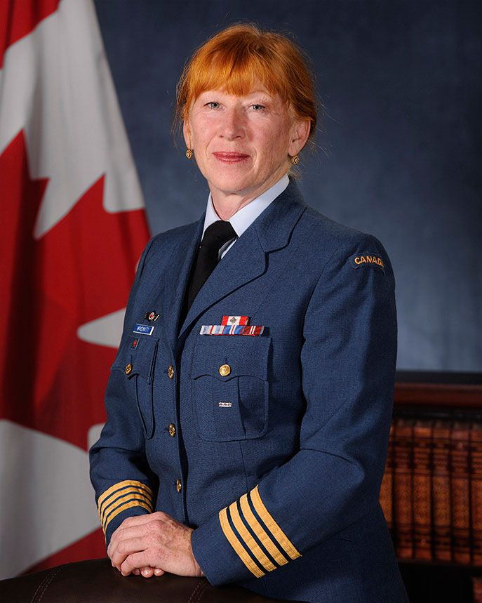 Internationally acclaimed Canadian singer-composer Loreena McKennitt was appointed as Honorary Colonel of the Royal Canadian Air Force in August 2014. She had previously served as Honorary Colonel of 435 Transport and Rescue Squadron at 17 Wing Winnipeg, Manitoba