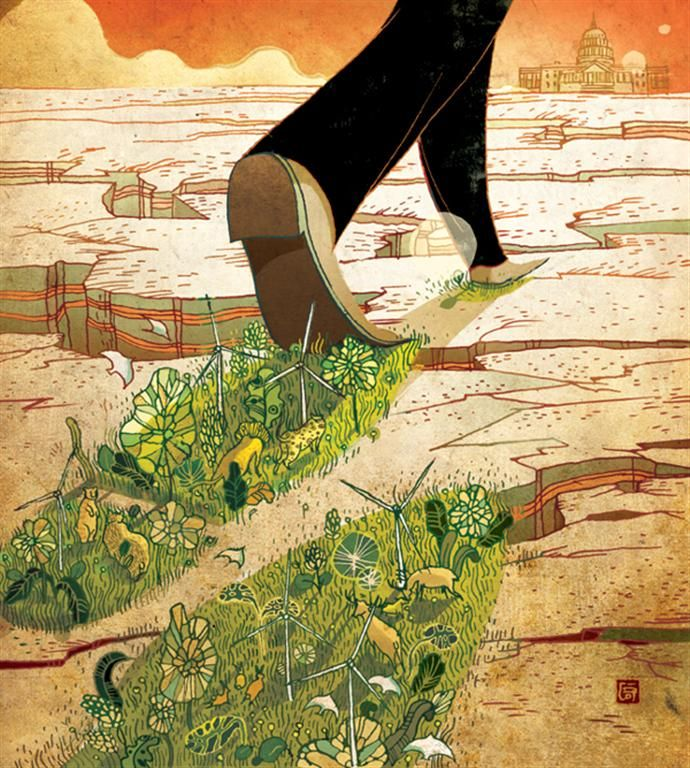 Business and Trade-Editorial,series by Victo Ngai