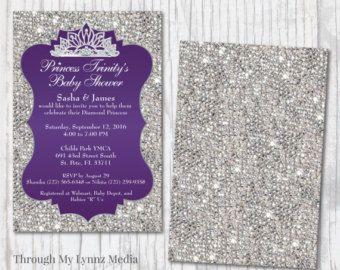 Bling Baby Shower Invitations Diamond by ThroughMyLynnzDesign