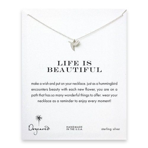 Dogeared Silver Life is Beautiful Hummingbird Necklace  Price Β£47