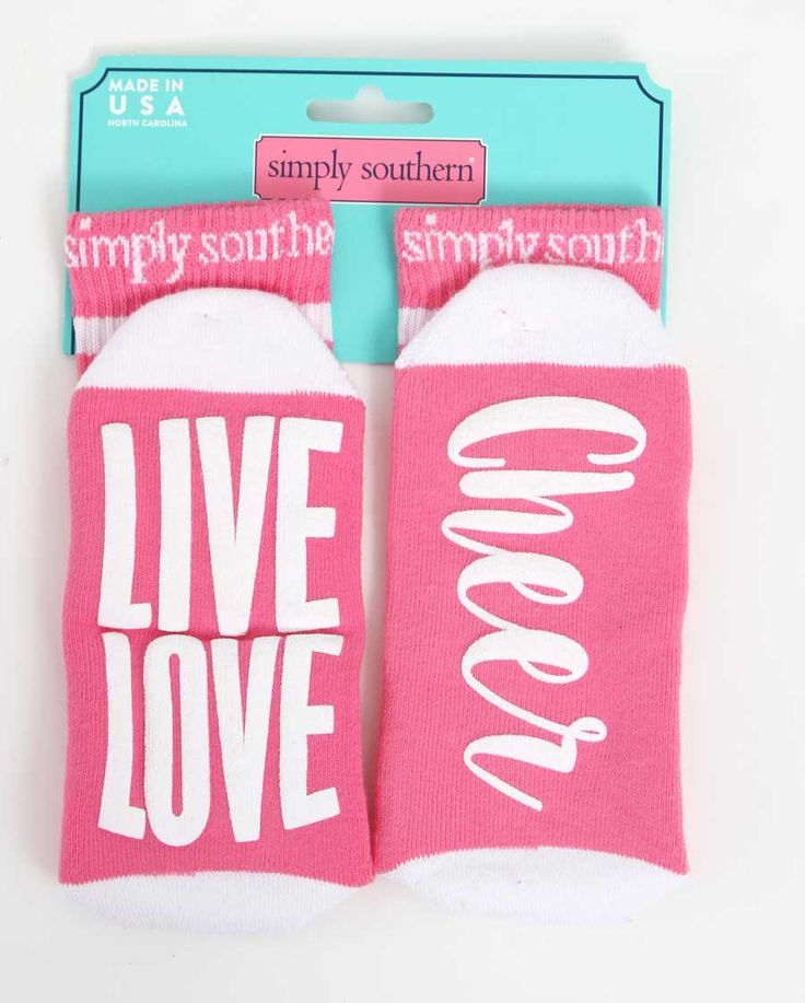 Simply Southern Preppy Collection Live Love Cheer Socks for Women